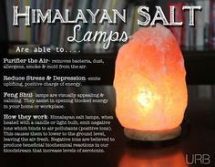 Benefits of Himalayan salt lamps PINNED WITH LOVE by Heart Space - Happy Place #yoga #healthy #naturalremedy