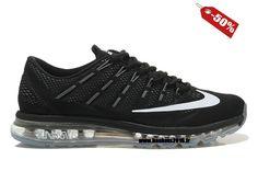 timeless design 8ab20 11923 Officiel Nike air max 2016 Chaussure Nike Baskets 2016 Pas Cher Pour Femme  Noir - Blanc-1601132380-Nike chaussures magasins en France!