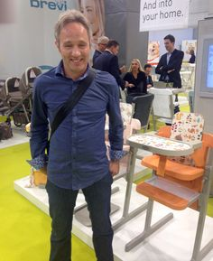 """Pius Ponticelli, the """"father"""" of Brevi Slex Evo. #cradle #swing #highchair #chair all in one"""
