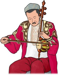 ghijek player / The ghijek is a bowed string instruments from the Uyghur Region, Western China.