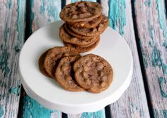 """I wanted to make some cookies for my husband. I started out making peanut butter cookies using the recipe from the Reese's peanut butter chips package. But as I gathered all my ingredients, I found I was short a few things... not enough butter, no cocoa powder, and I grabbed maple extract instead of the vanilla. So I threw what I had together... and after tasting them figured I should come up with a name. """"Happy Accident!""""   Enjoy!"""