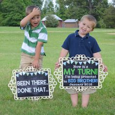 Ideas baby reveal ideas for siblings pregnancy announcements for 2020 Third Baby Announcements, Big Brother Announcement, Creative Pregnancy Announcement, Baby Girl Announcement, Sibling Pregnancy Announcements, New Big Brother, Promoted To Big Brother, Baby Love, Baby Baby