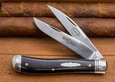 #48 Northfield UN-X-LD Improved Trapper Pocket Knife in African Blackwood