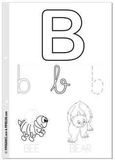 Printable activities - THE ALPHABET Letter B #preschool #homeschooling