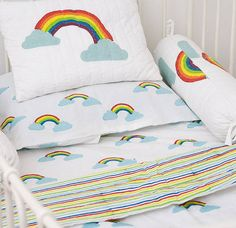 reversible baby rainbow quilt by lulu and nat | notonthehighstreet.com