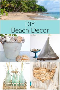 The best of DIY beach decor ideas plus over 100 summer DIY projects - patriotic crafts, patio refreshes, summer backyard updates and more. Summer Diy, Sisal Rope, Thrifty Decor, Patriotic Crafts, Backyard, Patio, Thrifting, Nautical, Diy Projects
