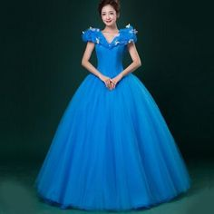 High quality Women Halloween Cosplay Adult Fancy Dress Princess Cinderella Ball Gown Costume Medium
