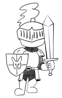 Knights Coloring Pages Inspire Kids Doors Castle . Horse Coloring Pages, Alphabet Coloring Pages, Colouring Pages, Adult Coloring Pages, Coloring Books, Castle Crafts, Château Fort, Knight In Shining Armor, Baby Drawing