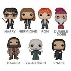 Harry Potter, Hermione, Ron, Dumbledore, Hagrid, Voldemort & Snape Funko POP! Vinyl Toys