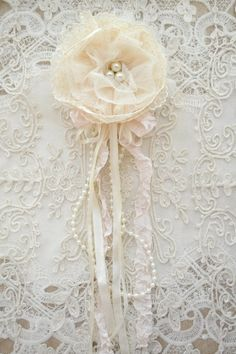 Ivory Lace and Tulle Gillyflower - Handmade by Jennelise