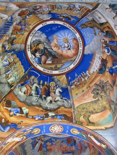 Apocalypse depicted in Christian Orthodox traditional fresco scenes in Osogovo Monastery, Republic of Macedonia Edal Anton Lefterov • Public domain