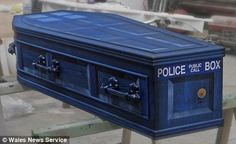 Tardis Coffin morbid, yes, but note to the world...when i die...THIS is to be my coffin or there will be much haunting