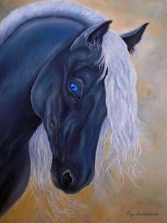 Black Diamond Art Print by Faye Anastasopoulou Diamond Art, Black Diamond, Canvas Art, Canvas Prints, Art Prints, Horse Oil Painting, Fine Art Posters, Thing 1, Art For Sale Online