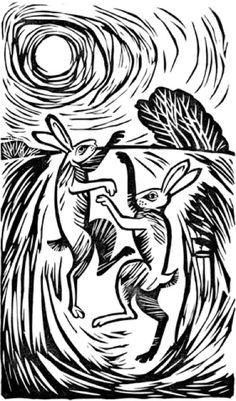 Celia Hart - boxing hares