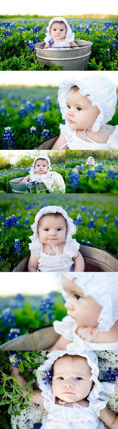 baby+bluebonnets ... When I have children, I will take their pictures in bluebonnets just like my mom did with my brother and I. So cute!