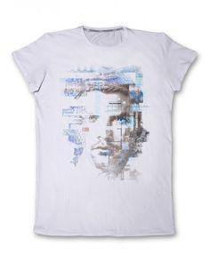 Бяла мъжка тениска с принт - мъж  #тениска #тениски #мъжкатениска #дънки #фешън #лято #лято2015 #колекция2015 #тенискиспринт