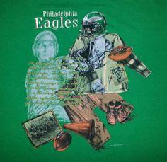 VTG 90s NFL Philadelphia Eagles T-Shirt NUTMEG Throwback XL via mrs_stout a/k/a SuperMamaVintage @Defunkd True Vintage Tees True Vintage Tees