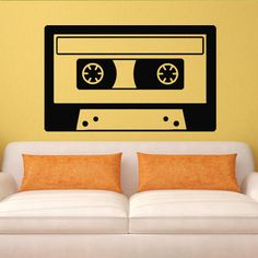 Wall decal decor decals art girl audio by DecorWallDecals on Etsy, $28.99