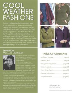 Cool Weather Fashions - Leisure Arts - Google Books