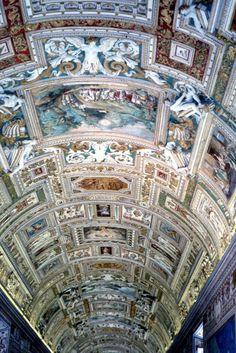 Vatican ceiling (Rome, Vatican City, Italy)