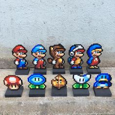 A bunch of Marios made last night for todays popup- not sure where the sprite is from. A big THANK YOU goes out to all of you who came out and supported today at - Hama Beads, Fuse Beads, Perler Bead Templates, Perler Patterns, Marvel Cross Stitch, Perler Bead Mario, Lego Mosaic, Iron Beads, Beaded Cross Stitch