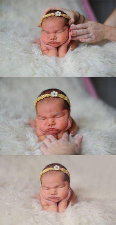 Newborn posing steps