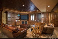 Dekorative Fliesen können als solide Proof Maßnahme in große Familienzimmer oder Heimkinos verwendet werden.