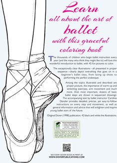 Welcome to Dover Publications  Ballet Class Coloring Book