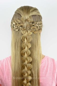 Four Strand Braid Boho Style from Babes in Hairland