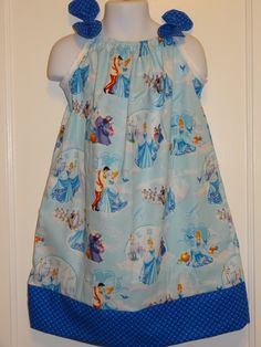 Disney Cinderella Girls Pillow Case Dress Made to Order Sizes 12-18, 18-24 month, and 2 to 8, Cinderella, Prince Charming by DesignsByGranGran on Etsy