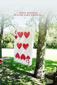 Magic Birthday Playing Card Pinata DIY
