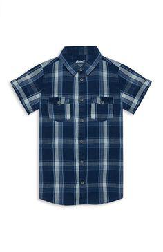 Primark - Older Boy Blue Check Shirt