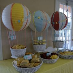 Hot Air Balloon Baby Shower Party Ideas | Photo 1 of 60 | Catch My Party