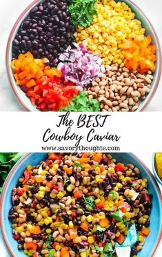 Perfectly serve Cowboy Caviar as a side dish and or as an appetizer The easiest and most simple dip to make in minutes Every bite includes a sharp sweet flavor cowboycaviar Texassalad salad beandip dip salsa beansalsa cowboy cowboyfood caviar Mexican Food Recipes, Vegetarian Recipes, Cooking Recipes, Healthy Recipes, Diet Recipes, Vegetarian Pasta Salad, Cooking Dishes, Chickpea Recipes, Lentil Recipes