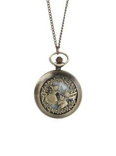 Disney Alice In Wonderland Pocket Watch Necklace.  My daughter bought one today.  It's so nice I think I might have to go get one for myself!