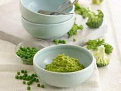 Give babies a superfood boost by adding kale to this puree combo of butternut squash, broccoli and peas. Yes peas!