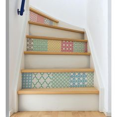34.5 in. x 39 in. Stand Out Stair Decor Wall Decal, Multi-Color