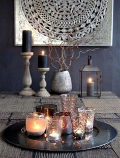 EP for the living room- paint a silver art piece with guitars Modern Moroccan Decor The Chic Street Journal Modern Moroccan Decor, Moroccan Interiors, Moroccan Style, Moroccan Inspired Bedroom, Morrocan Decor, Moroccan Design, Modern Decor, Deco Table, Dining Room Table