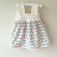 Ravelry: Project Gallery for Granny Square Crochet / Fabric Dress pattern by Mon Petit Violon