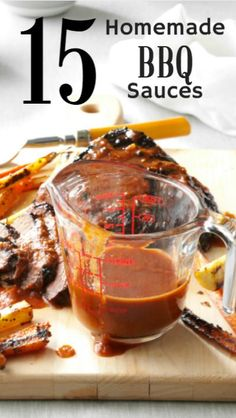 15 Homemade BBQ Sauce Recipes from Taste of Home | Including Honey Barbecue Sauce, Sweet and Tangy Barbecue Sauce, Cookoff Barbecue Sauce, Texas-Style BBQ Sauce and more!