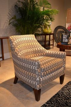Mid-century chair from Craftmaster Furniture. Perfect for small spaces and additional seating.