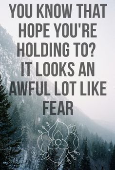 Afraid of this! Let go...