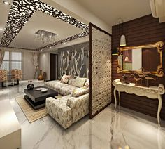 Astonishing partition design ideas for living room 14 House Ceiling Design, Ceiling Design Living Room, Home Room Design, Living Room Designs, Living Rooms, Drawing Room Ceiling Design, False Ceiling Living Room, Apartment Living, Flur Design