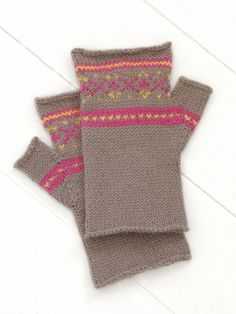 Fair Isle Fingerless Gloves from Blue Sky Alpacas.  I'd have to modify for myself though, I don't fit their definition of 'most' by more than an inch.