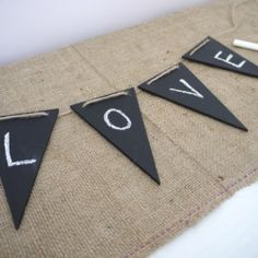 DIY Chalkboard bunting which you can change whenever you like!