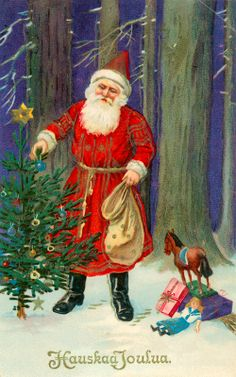 Joulukortti vuodelta 1922. #joulu #helsinki