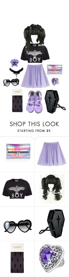 """""""pastelBOY"""" by moon-grrrl ❤ liked on Polyvore featuring Milly, BOY London, Retrò, Pull&Bear and Just Cavalli"""