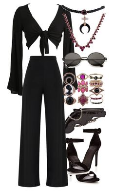 """Untitled #1112"" by ashantiannasmith ❤ liked on Polyvore featuring Jacquie Aiche and Yves Saint Laurent"