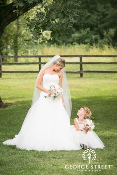 The bride and her flower girl -- too cute!