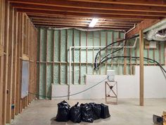 Your basement flooring options are not really any different from the flooring options elsewhere in your home. Everything from ceramics to hardwood, all are possible choices for your basement floor… Basement Windows, Basement House, Basement Flooring, Spray Foam Insulation Kits, Garage Insulation, Cement Walls, Concrete Floors, Basement Renovations, Home Remodeling